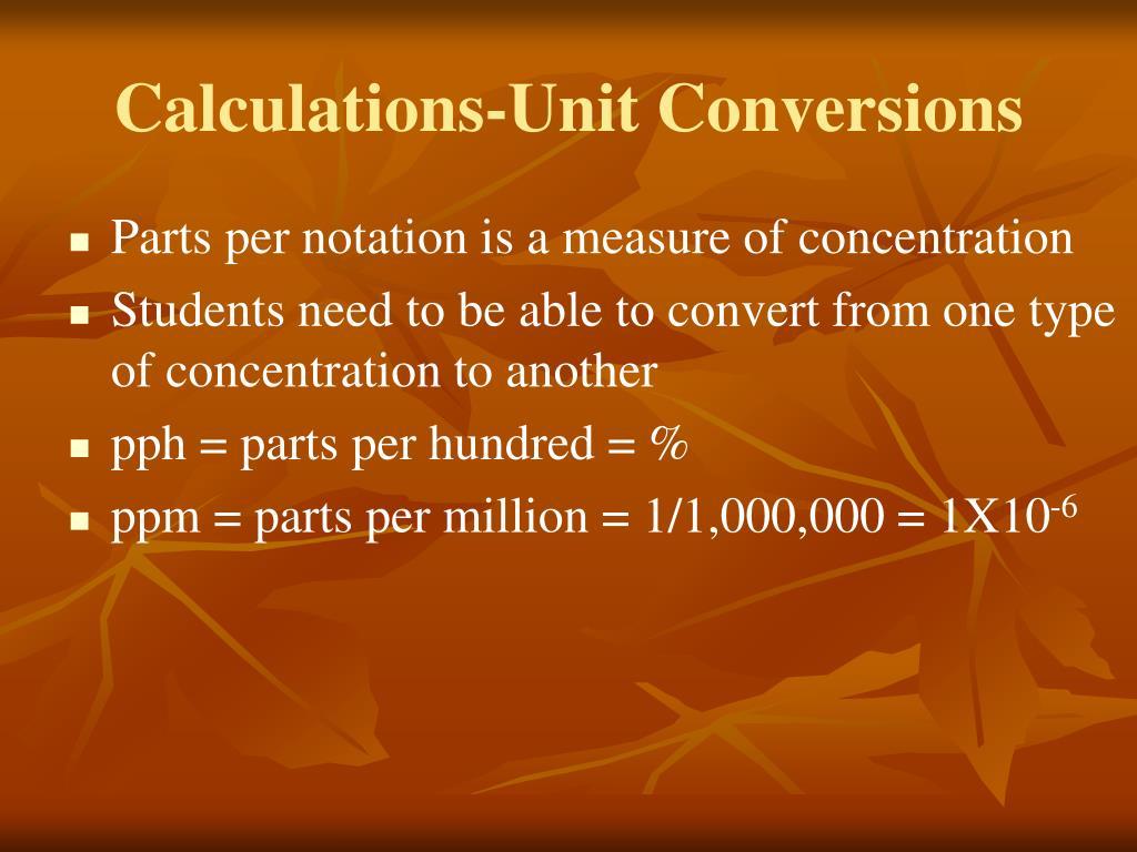 Calculations-Unit Conversions