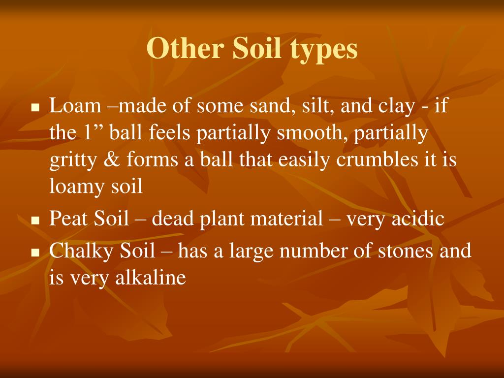 Other Soil types