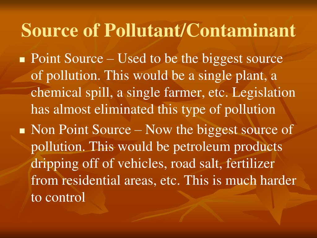 Source of Pollutant/Contaminant