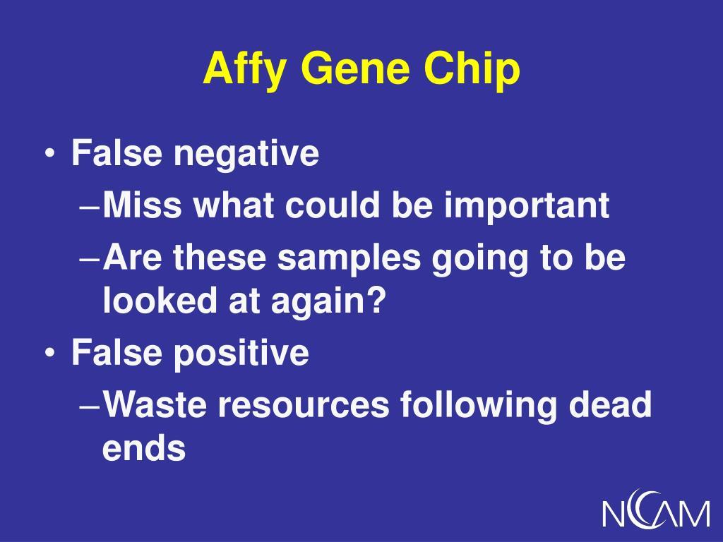 Affy Gene Chip
