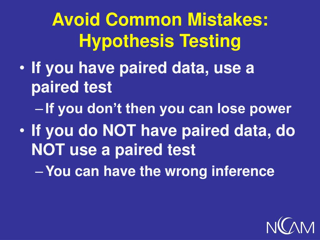 Avoid Common Mistakes:
