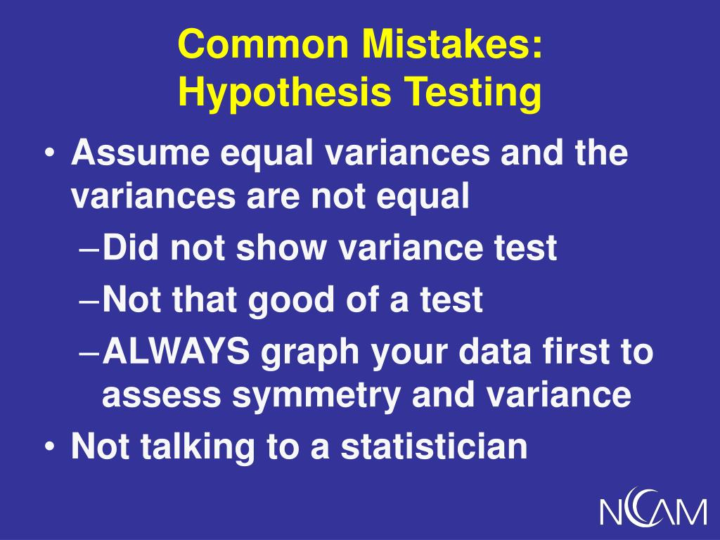 Common Mistakes:
