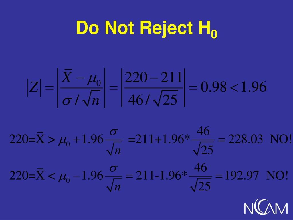 Do Not Reject H