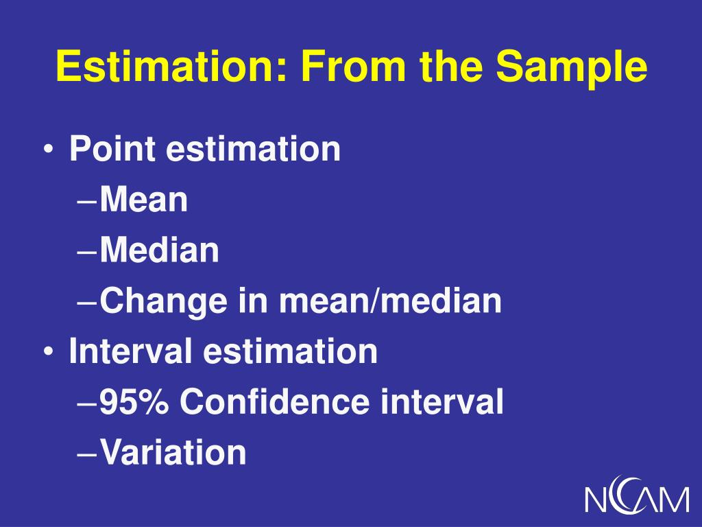 Estimation: From the Sample