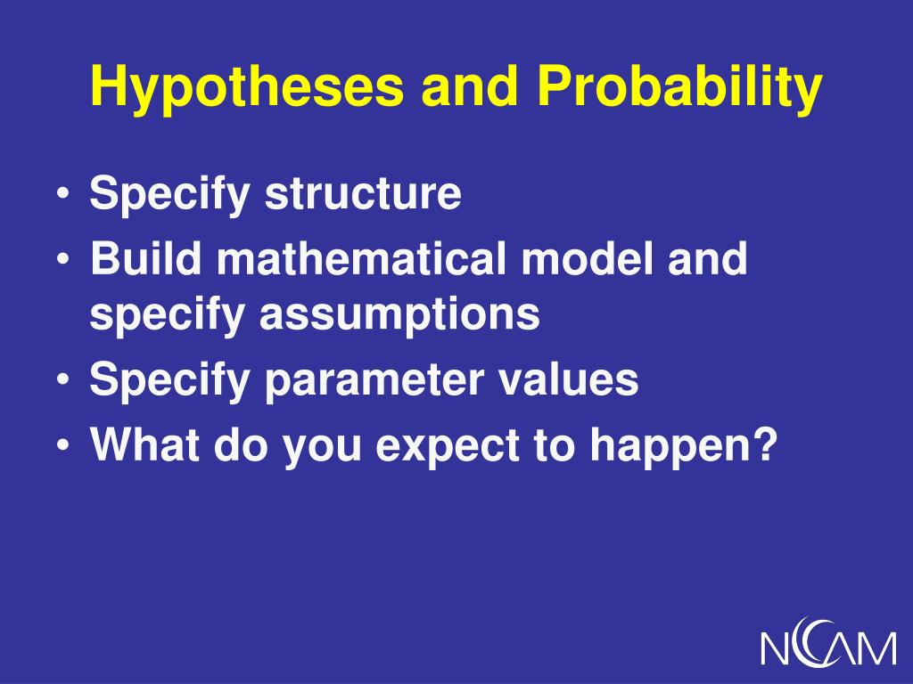 Hypotheses and Probability