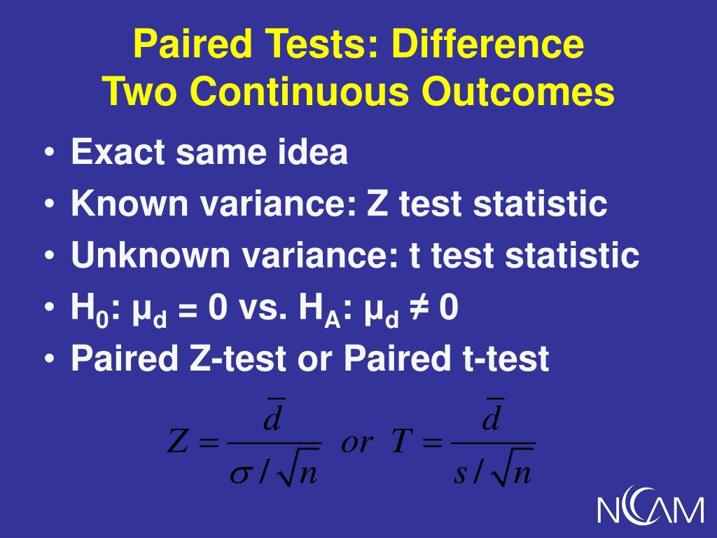 Paired Tests: Difference