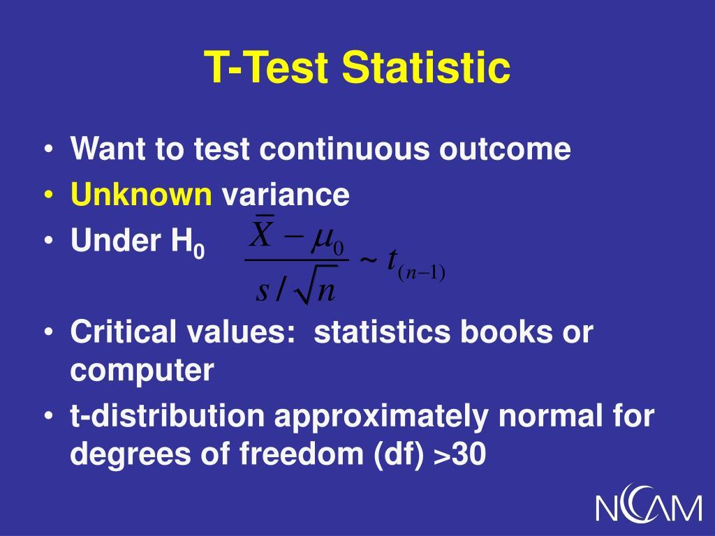 T-Test Statistic