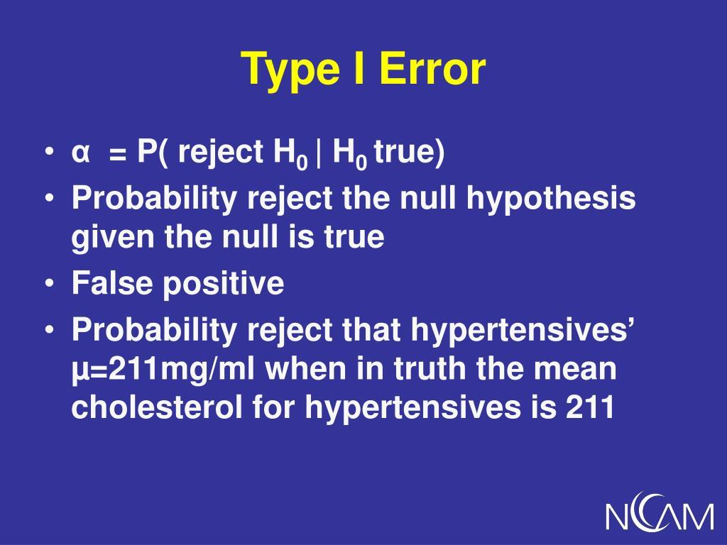 Type I Error
