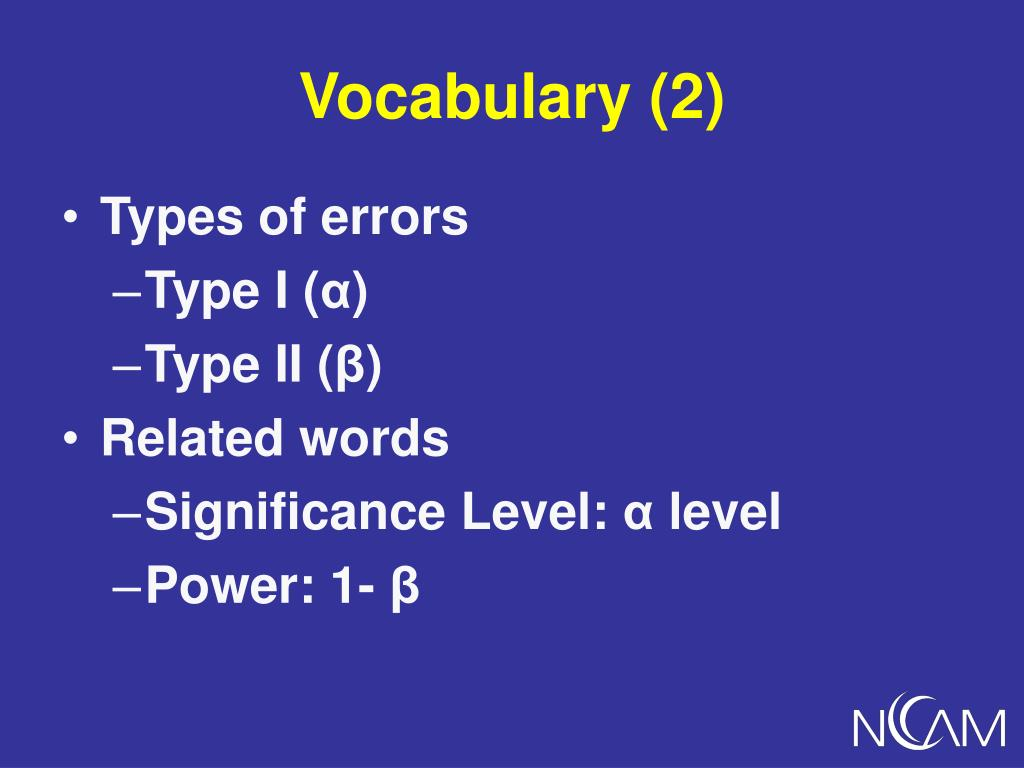 Vocabulary (2)