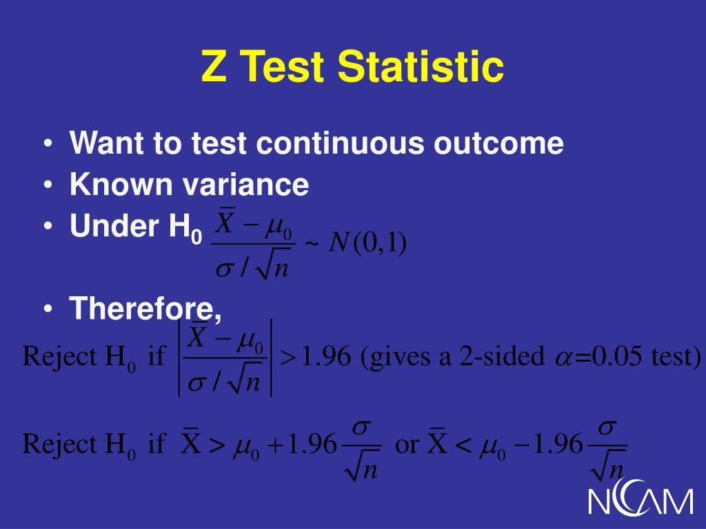 Z Test Statistic