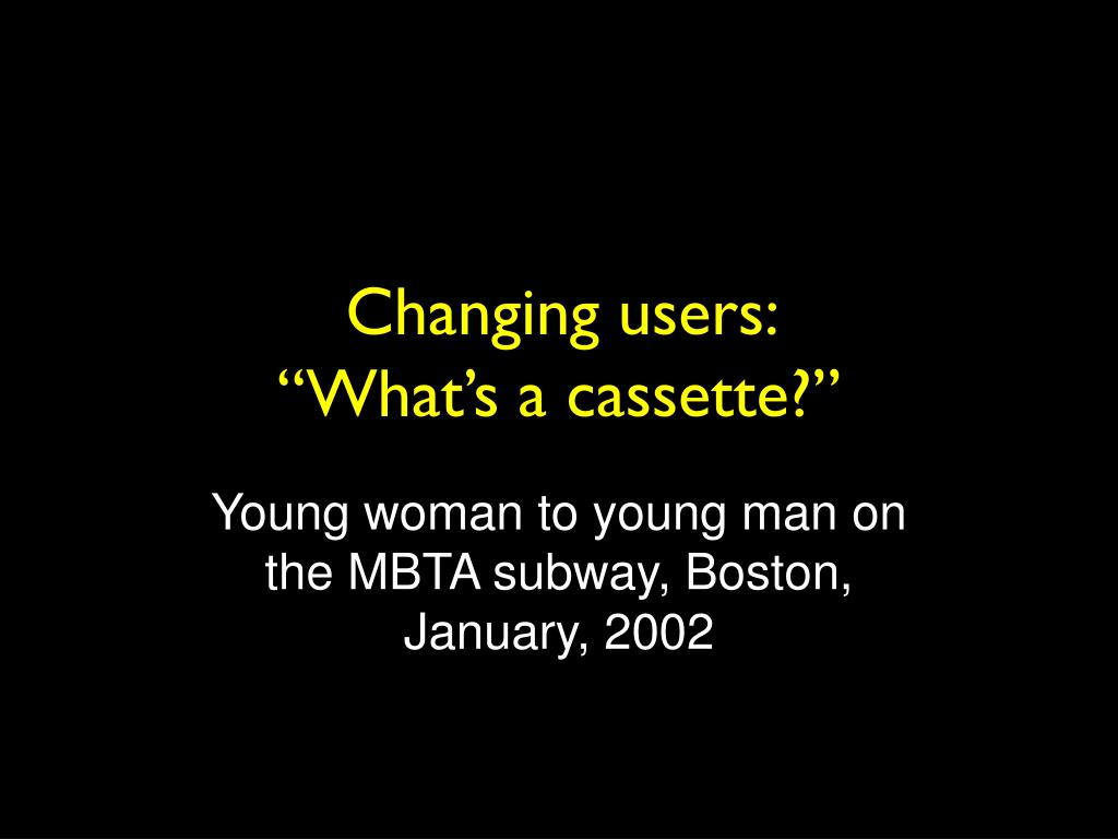 Changing users: