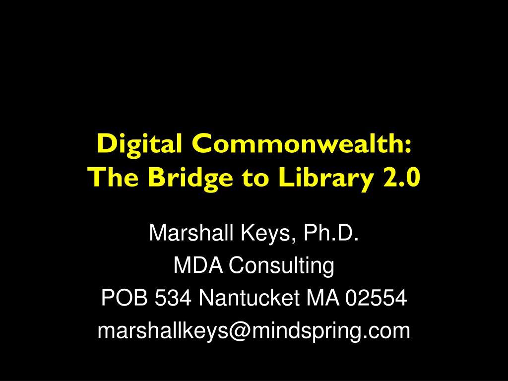 Digital Commonwealth: