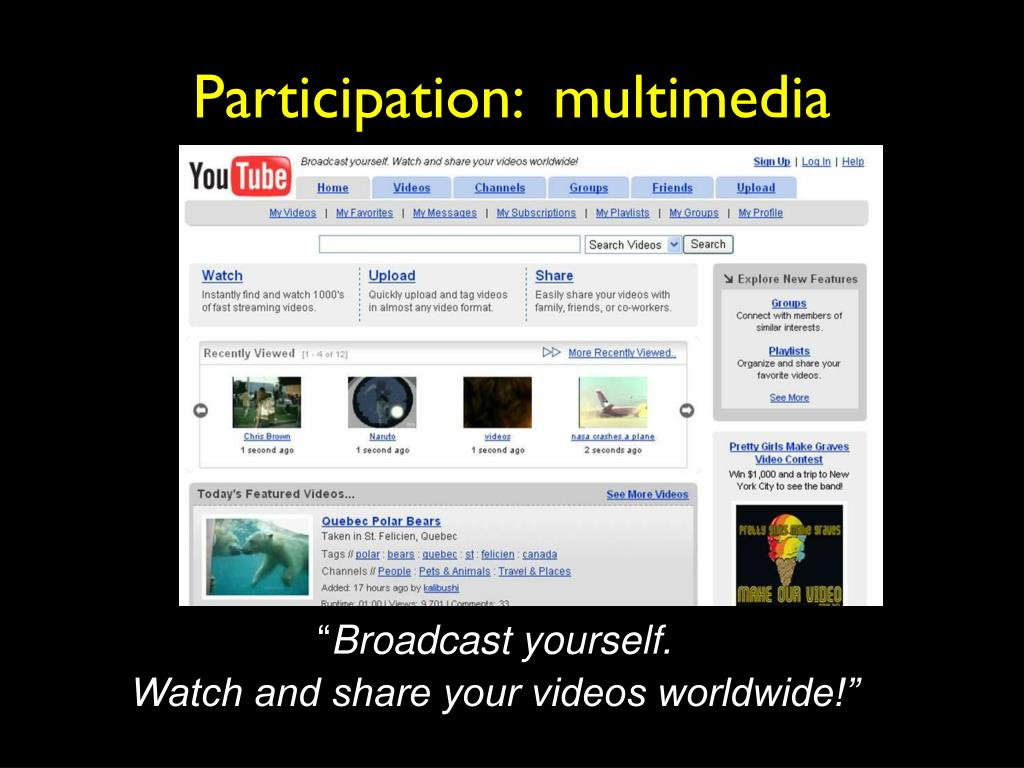 Participation:  multimedia