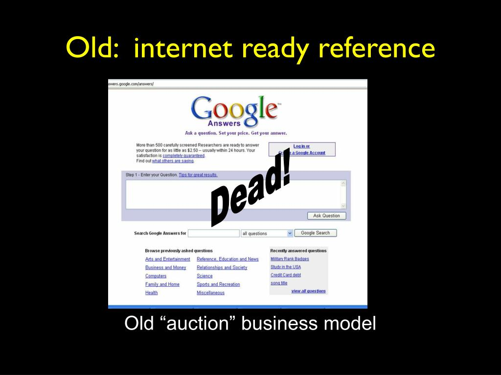 Old:  internet ready reference