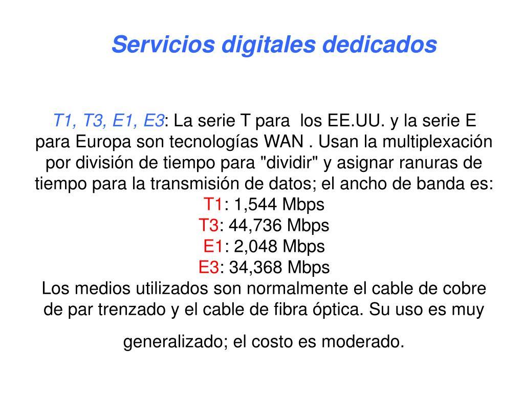 Servicios digitales dedicados