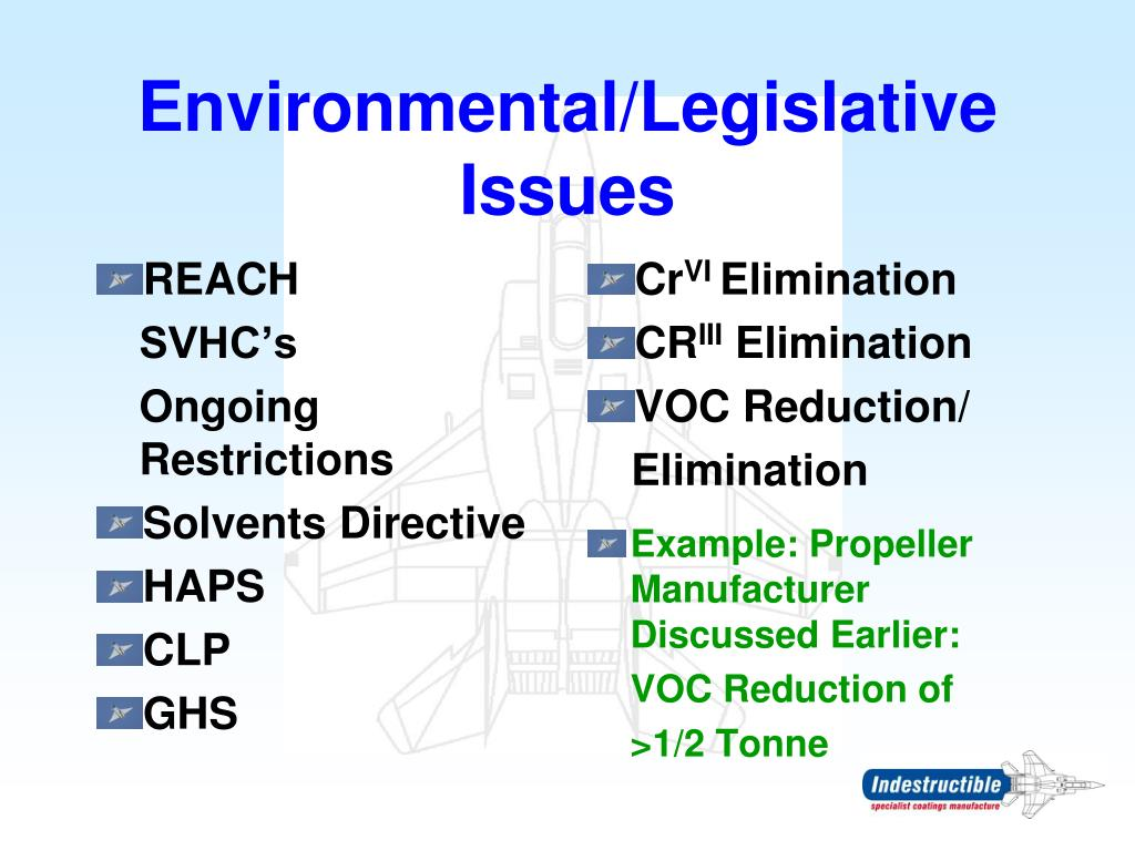 Environmental/Legislative Issues