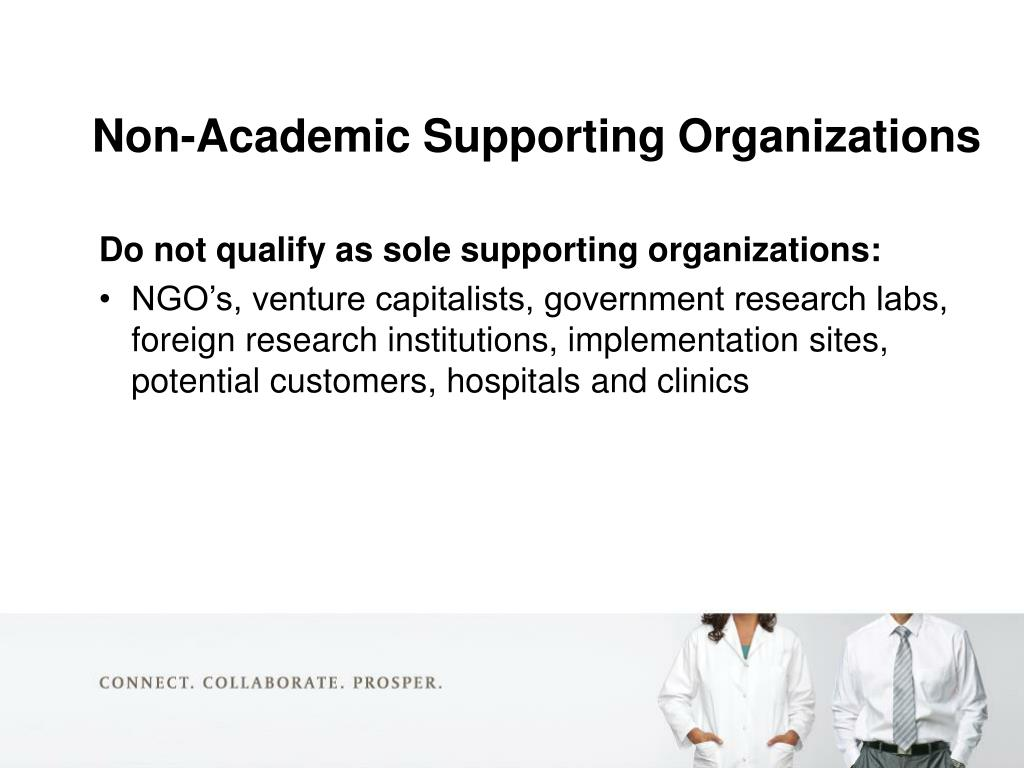 Non-Academic Supporting Organizations