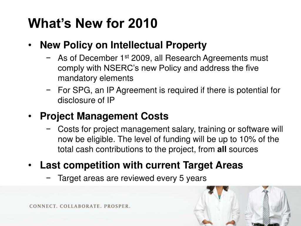 New Policy on Intellectual Property