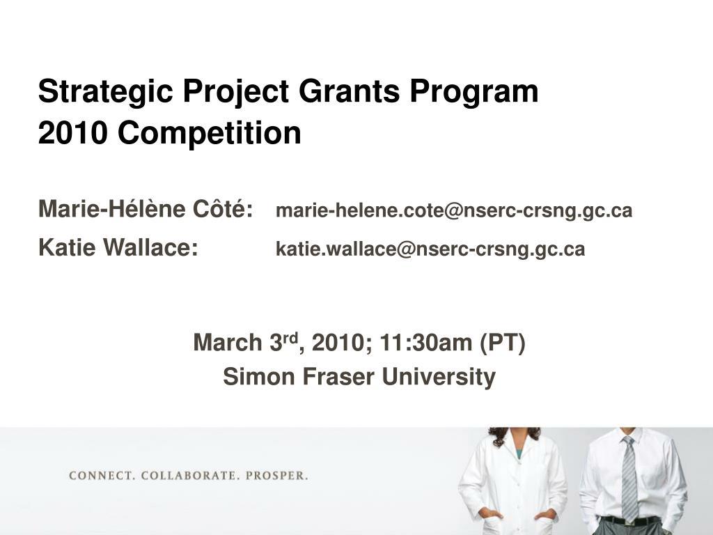Strategic Project Grants Program