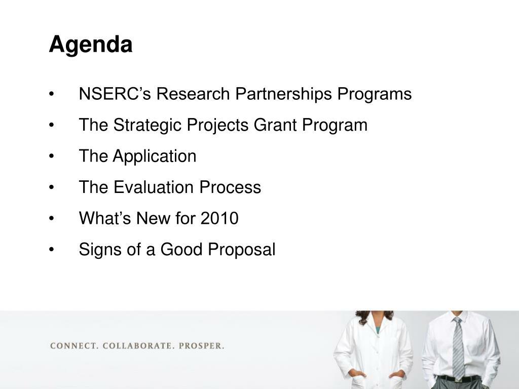 NSERC's Research Partnerships Programs