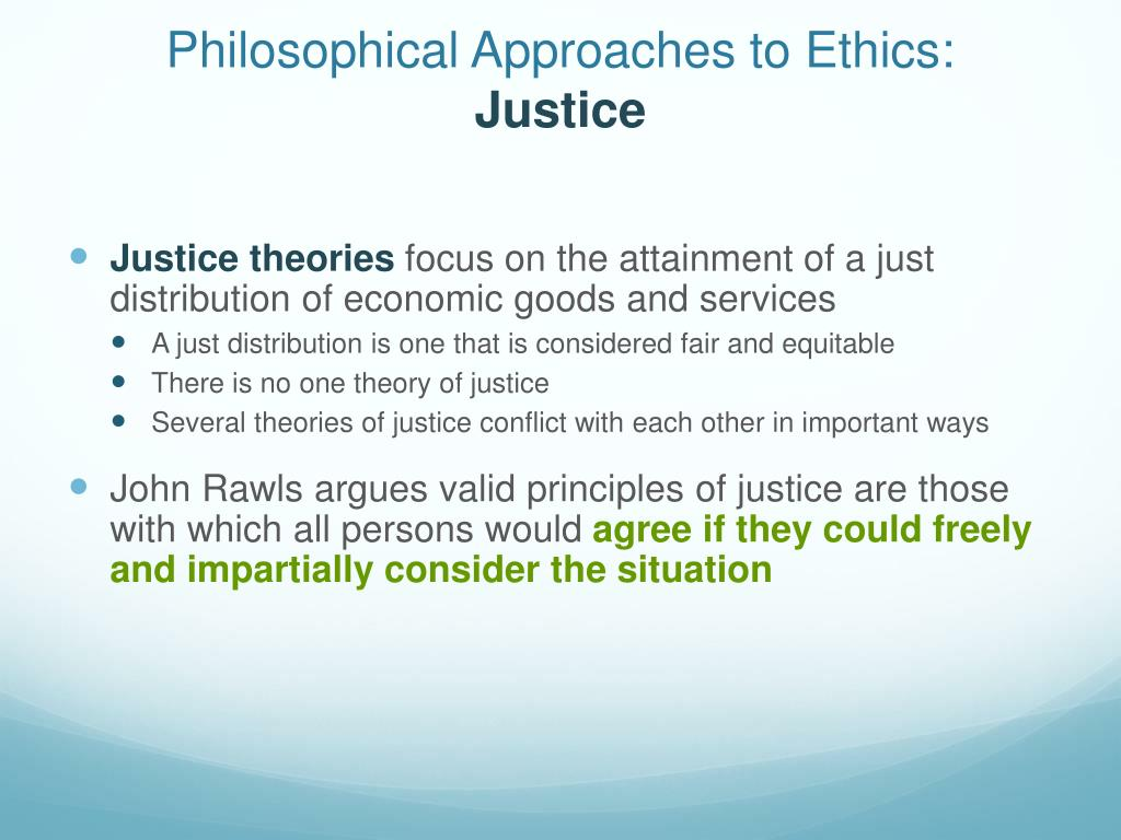 Philosophical approach to ethical decision making