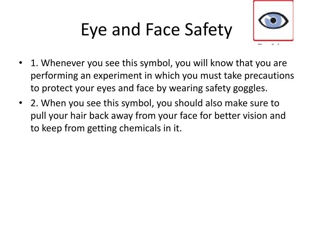 Eye and Face Safety
