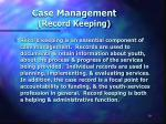 case management record keeping