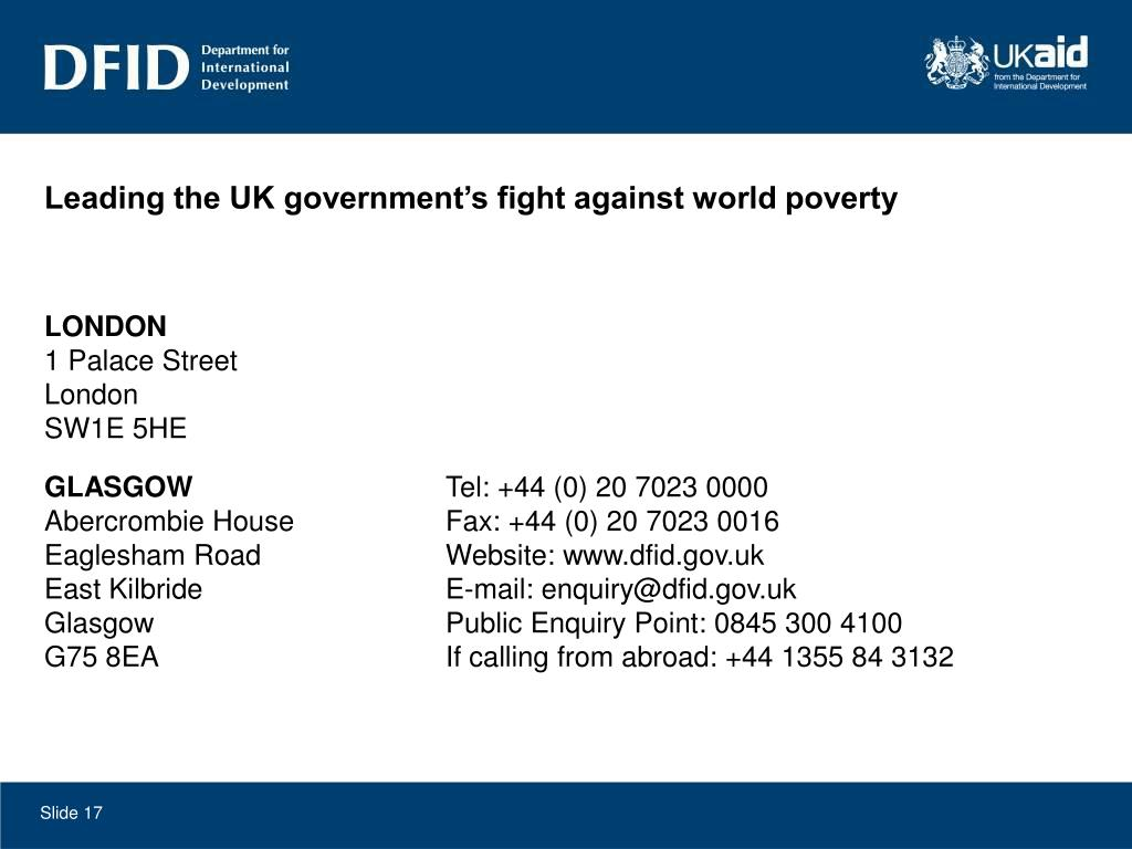 Leading the UK government's fight against world poverty