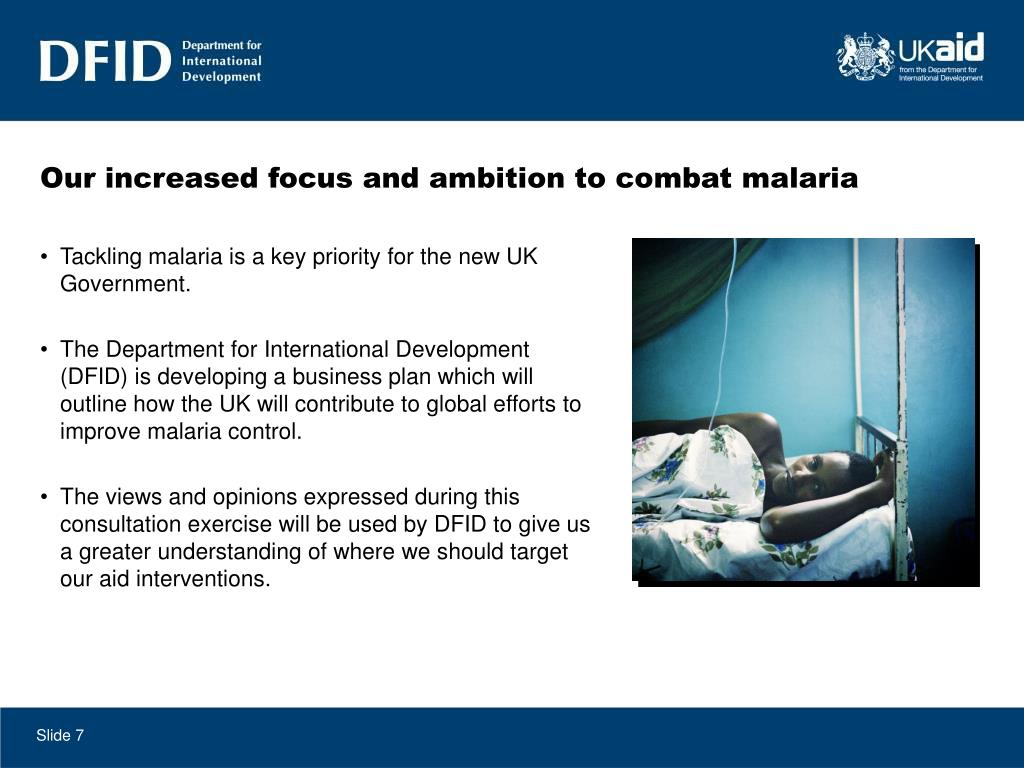 Our increased focus and ambition to combat malaria
