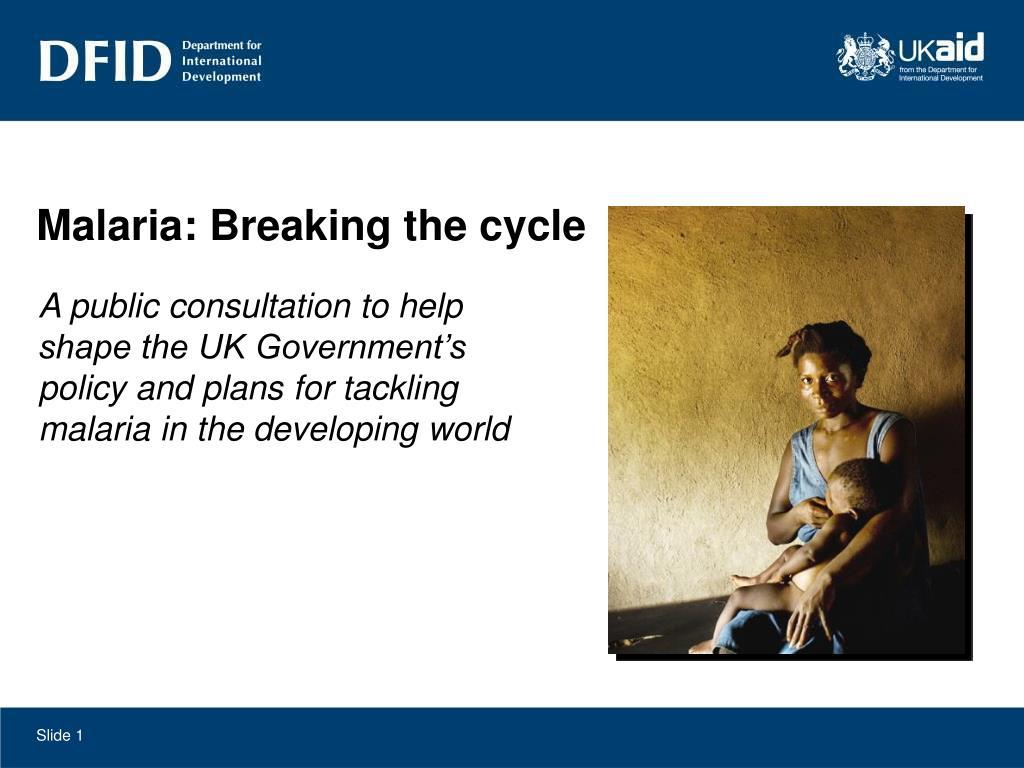 Malaria: Breaking the cycle
