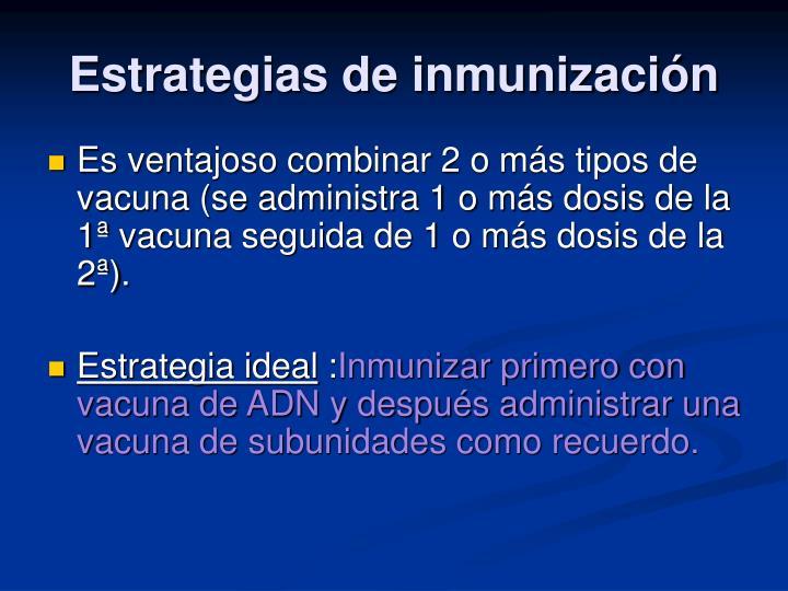 Estrategias de inmunización