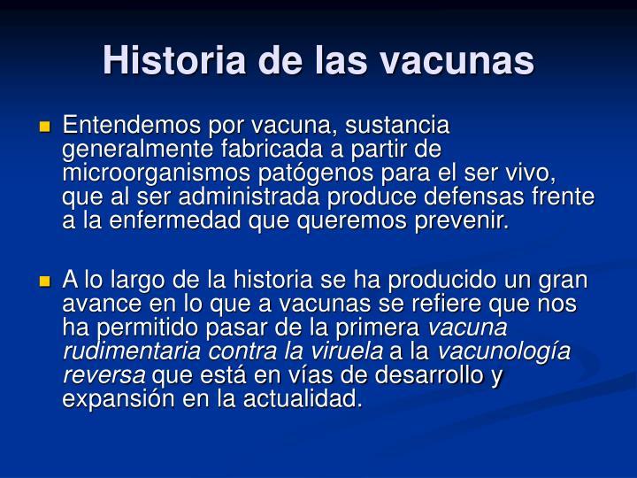Historia de las vacunas