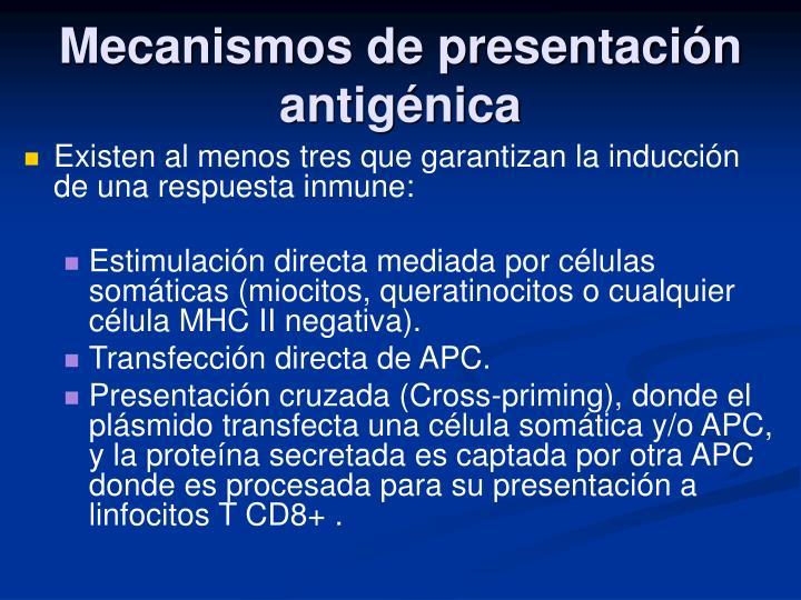 Mecanismos de presentación antigénica