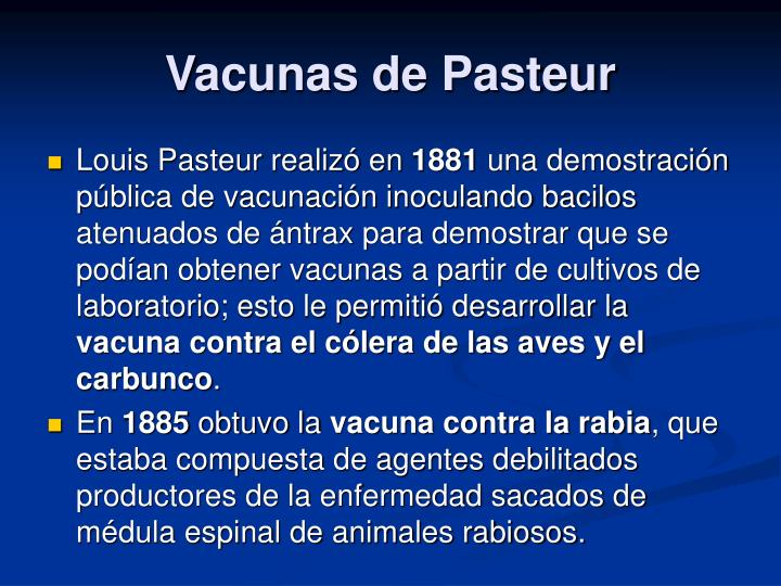 Vacunas de Pasteur