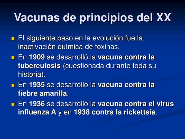 Vacunas de principios del XX