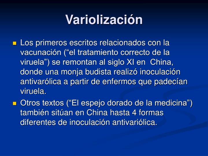 Variolización