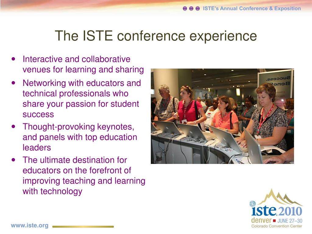 The ISTE conference experience