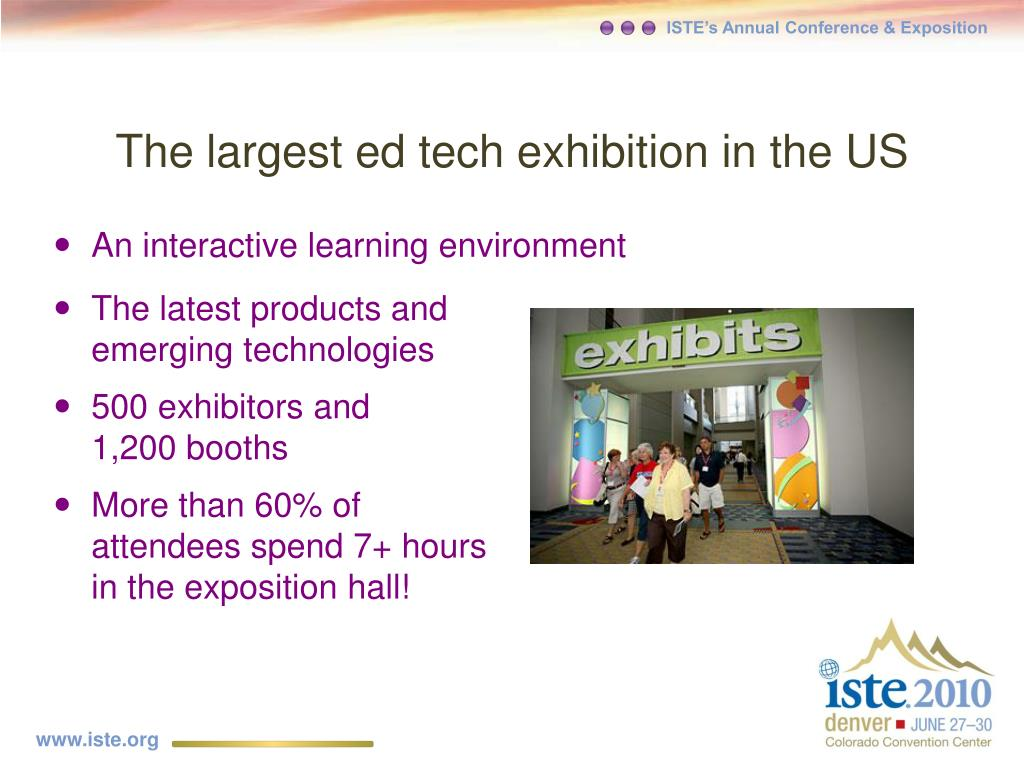 The largest ed tech exhibition in the US