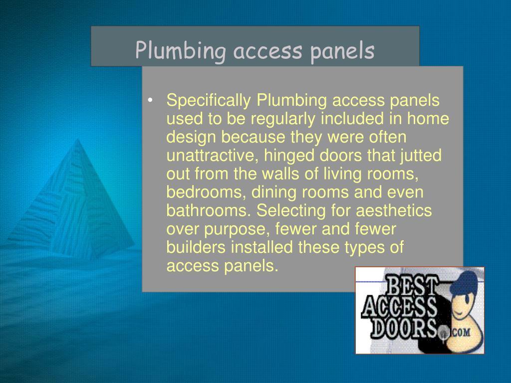 Plumbing access panels