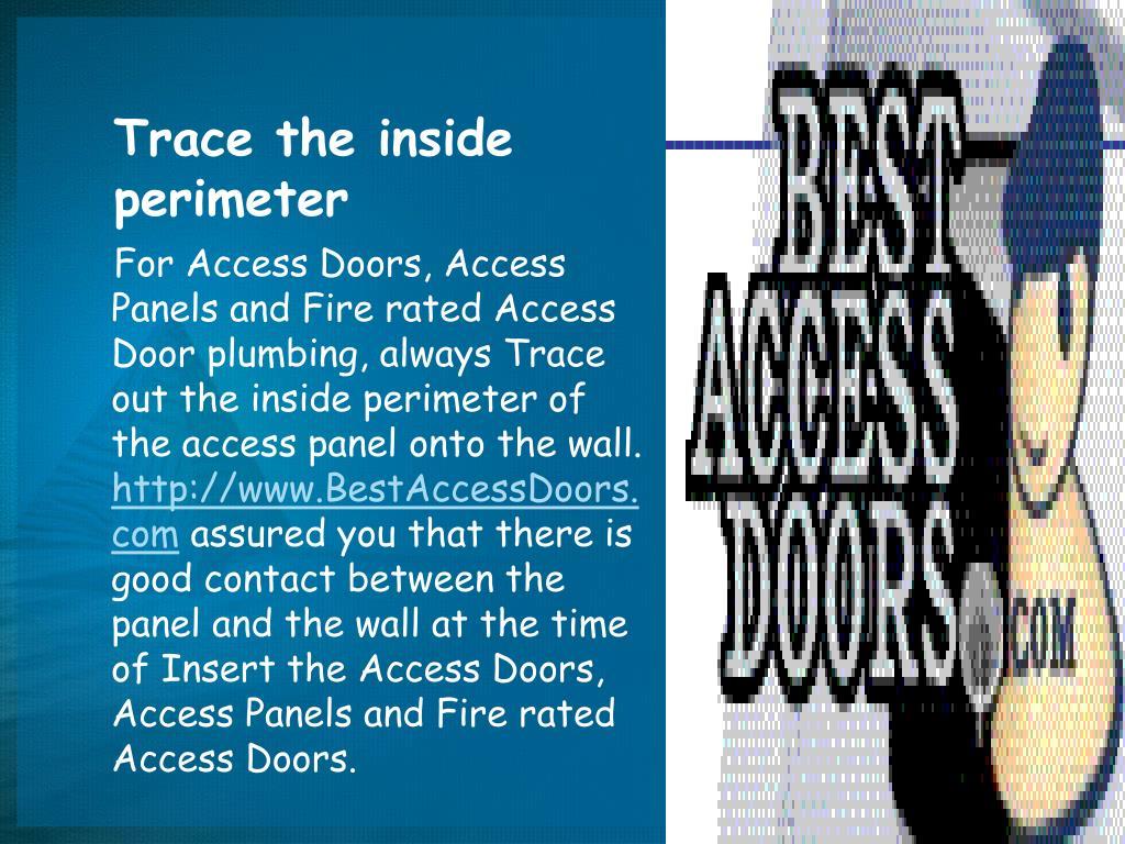 Trace the inside          perimeter