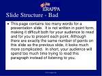 slide structure bad