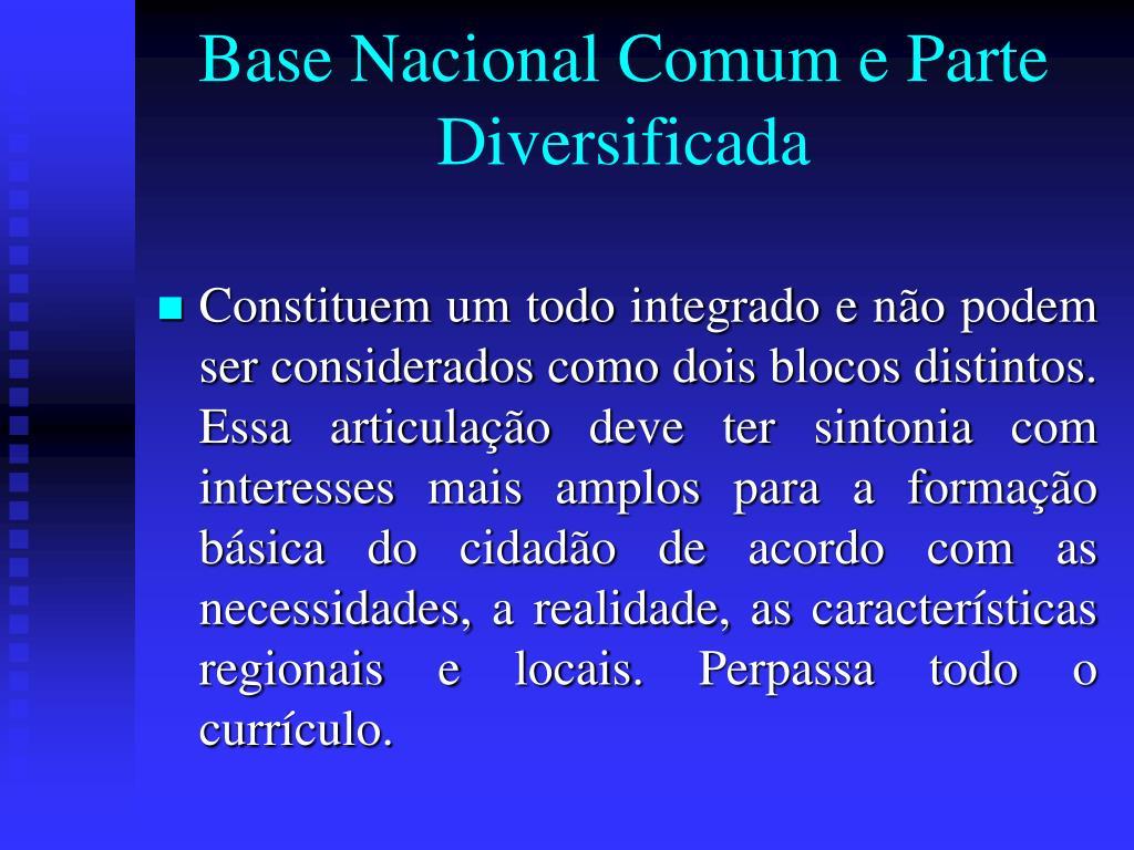 Base Nacional Comum e Parte Diversificada
