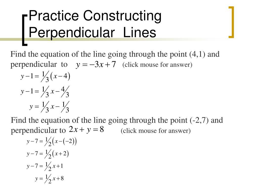 Practice Constructing Perpendicular  Lines