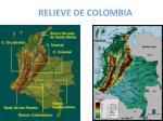 relieve de colombia