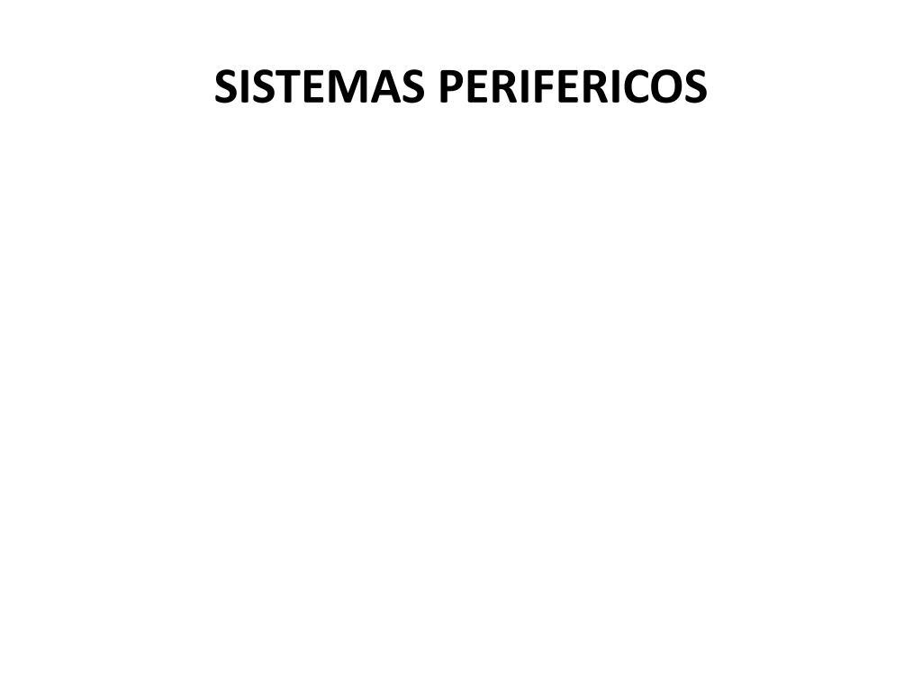 SISTEMAS PERIFERICOS