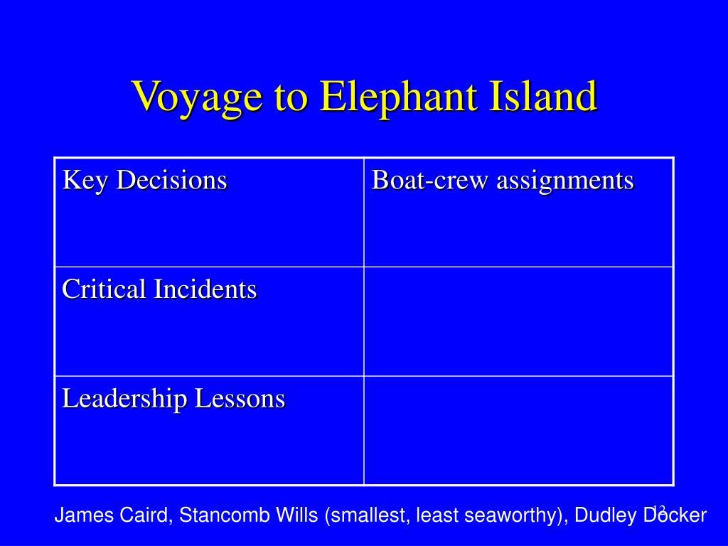 Voyage to Elephant Island
