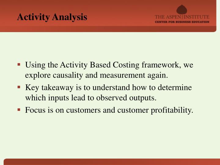 Activity Analysis