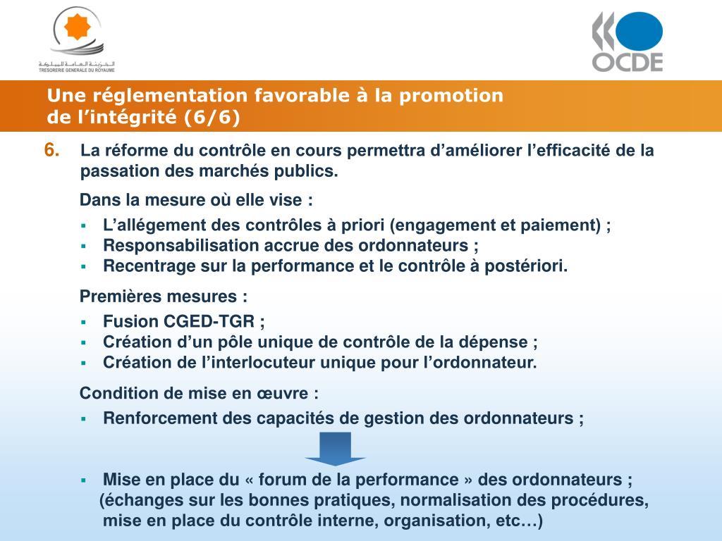 Une réglementation favorable à la promotion