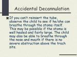 accidental decannulation26