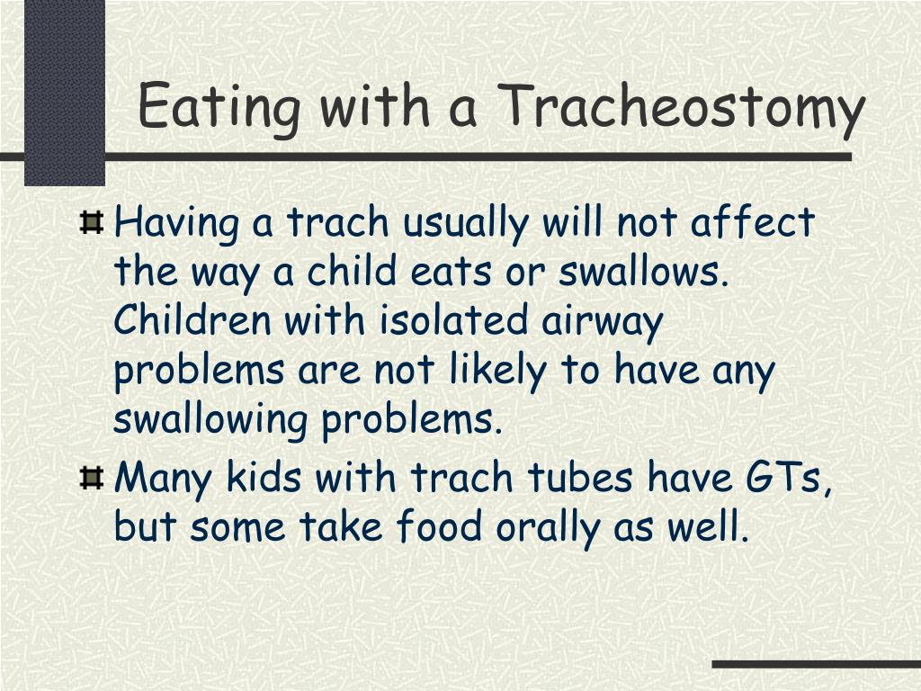 Eating with a Tracheostomy